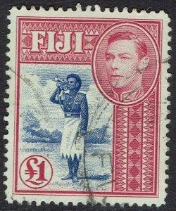 FIJI 1938 KGVI BUGLER 1 POUND USED