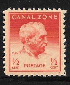 Canal Zone 136: 1/2c General Davis, single, MNH, F-VF
