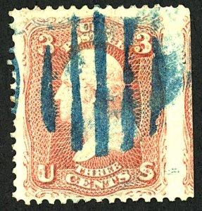 U.S. #65 USED BLUE CANCEL
