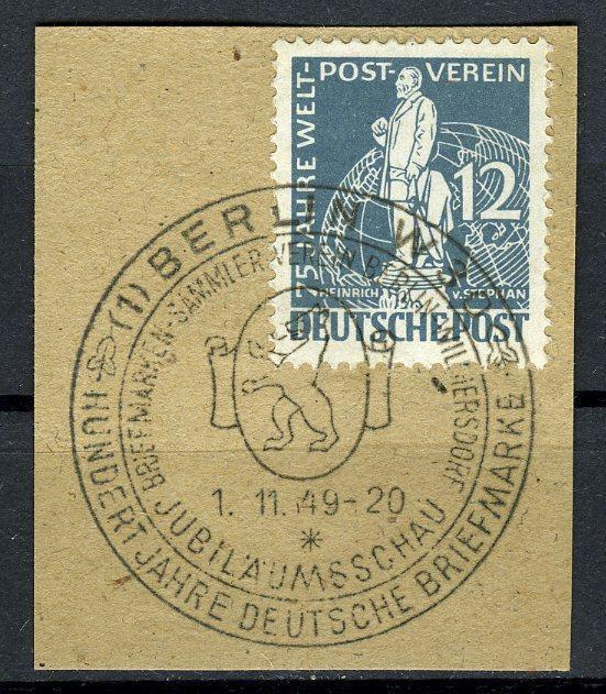 Berlin, 1949 UPU Stephan Set, VF ++ used on pieces w. special cancel