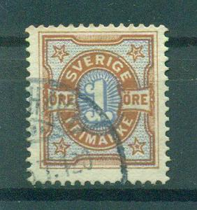 Sweden sc# 52 (2) used cat value $.65
