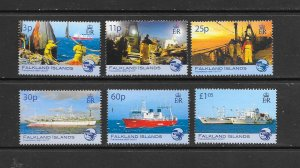 FISH - FALKLAND ISLANDS #924-9  FISHERIES  MNH