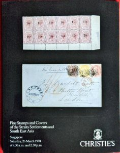 Auction Catalogue Stamps & Covers of STRAITS SETTLEMENTS + South East Asia