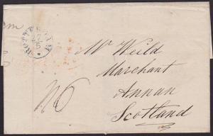 NETHERLANDS 1843 entire ROTTERDAM to Annan, Scotland.......................67263