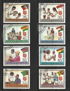 Antigua 1988 Scott # 1083-90 Complete Set used or CTO