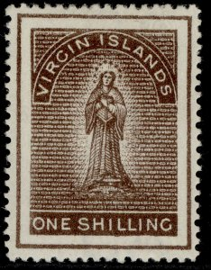 BRITISH VIRGIN ISLANDS QV SG41, 1s brown to deep brown, LH MINT. Cat £45.