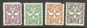 Malta Sc# J11-J14 MH 1925 Postage Due