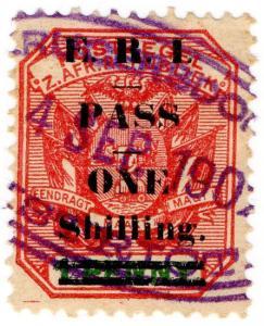 (I.B) Transvaal Revenue : Native Pass 1/- on 1d OP (no stop)