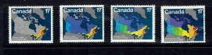 CANADA - 1981 CANADA DAY THE CHANGING MAP - SCOTT 890 TO 893 - USED