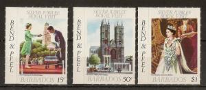 Barbados 1977 Royal Visit - Inverted Watermarks
