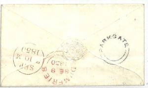 AA280 1850 GB Scotland *PARKGATE*UDC Receiver Dumfries Postmark Cover Edinburgh