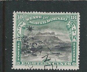 NORTH BORNEO 1897-1902 18c BLACK & GREEN FU SG 108 CAT £80
