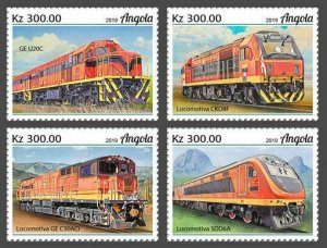 Z08 IMPERF ANG190206a Angola 2019 Trains MNH ** Postfrisch
