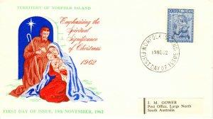 Norfolk Islands Scott 45 Label address.