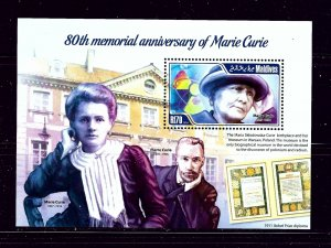 Maldive Is 3119 MNH 2014 Marie Curie S/S
