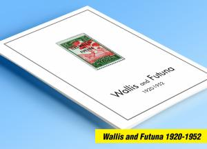 COLOR PRINTED WALLIS AND FUTUNA 1920-1952 STAMP ALBUM PAGES (18 illustr. pages)