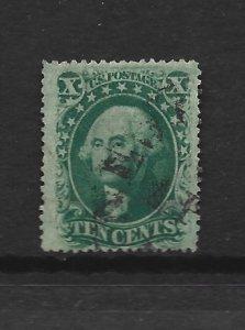 United States Scott #35 10-cent Washington used minor flaws 2016 cv $65