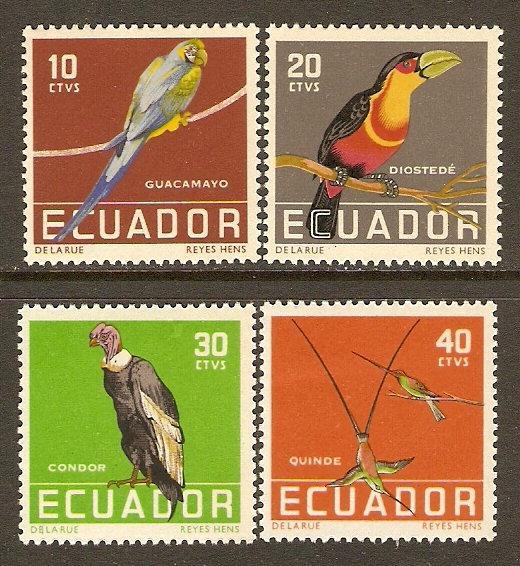 Ecuador #634-7 NH Birds