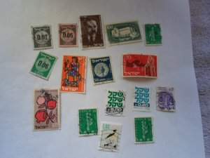 ISRAEL STAMPS MIXED CONDITION. LOT OF 15 stamps ( 11 )