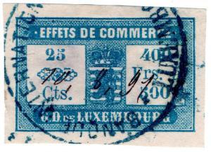 (I.B) Luxembourg Revenue : Bill of Exchange 25c (Effets de Commerce)