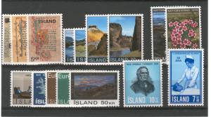 ICELAND 1970 Cmplt year mnh fvf  scv $15.90 Less 50%=$7.95 Buy it Now