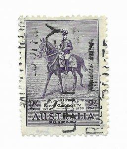 Australia #154 Few Short Perfs - Used - Stamp CAT VALUE $57.50