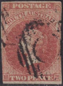 South Australia 1856-1859 SC 6 Used
