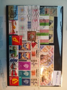 Lot 1 Nederland full page, 37 stamps used