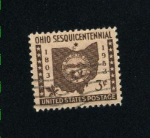 USA #1018  1  used 1953 PD .08