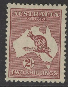 AUSTRALIA SG134 1935 2/= MAROON DIE II MTD MINT
