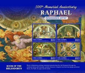 2020/08- GAMBIA - RAPHAEL       4V complet set    MNH ** T