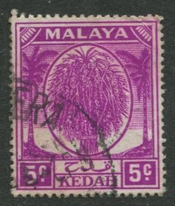 STAMP STATION PERTH Kedah #65 Sheaf of Rice Used Wmk 4 -1950-55