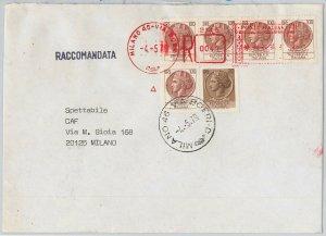 57150 - ITALIA REPUBBLICA - STORIA POSTALE : SIRACUSANA su  BUSTA RACCOMANDATA