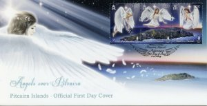 Pitcairn Islands Christmas Stamps 2019 FDC Angels over Pitcairn 3v Strip
