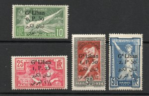 Lebanon - Sc# 45 - 48 MH    /     Lot 0620300