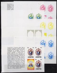 Booklet - Lesotho 1981 Royal Wedding 75s value (x 3) in b...