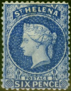 St Helena 1873 6d Ultramarine SG16a Fine Mtd Mint