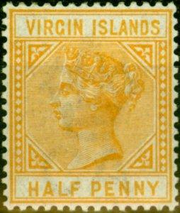 Virgin Islands 1883 1/2d Yellow-Buff SG26 Fine & Fresh Lightly Mtd Mint
