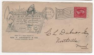ADV Cover Web & Co's Green Timber Shingles White Pine & Cedar, 1899 Michigan CDS