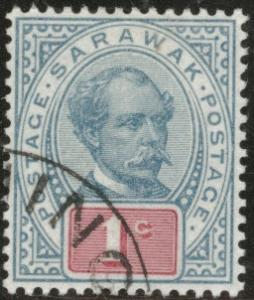 SARAWAK Scott 36 used 1901 CV $1.40