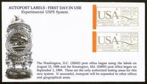 CVP6 / CVP11 Scarce Computer Vended Postage Experimental USPS Systems FDC