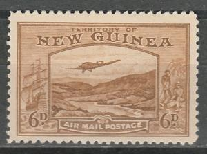 NEW GUINEA 1939 BULOLO AIRMAIL 6D