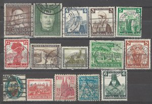 COLLECTION LOT # 4926 GERMANY 15 SEMI POSTAL STAMPS 1926+ CV+$25