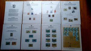 EXTREMELY RARE UAE 5 FRAME 80 SHEETS COLLECTION WITH 47 COVES & +300 STAMPS