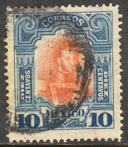 MEXICO 315 10cs INDEPENDENCE CENTENNIAL 1910 COMMEM USED. F-VF. (222)