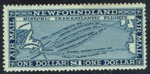 NEWFOUNDLAND 1931 AIRMAIL $1 NO WMK