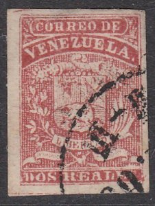 VENEZUELA  An old forgery of a classic stamp - .............................D805