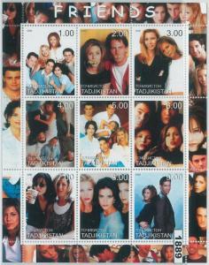 1889 - TAJIKISTAN, 2000 MINIATURE SHEET: Friends TV Show, Sitcom, Courteney Cox