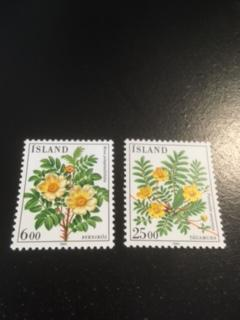 Iceland sc 586,587 MNH Flowers