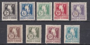 Indo-China # J5-13, Postage Due - Dragon,  Hinged, 1/3 Cat.